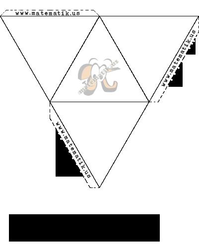 Üçgen Piramit (Düzgün Dörtyüzlü) Animasyonu ve Açılımı