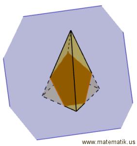 Kare piramitin bir düzlemle arakesiti